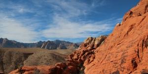 Red rocks panorama.